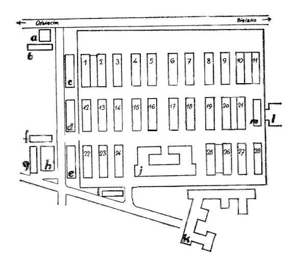 auschwitz térkép Auschwitz auschwitz térkép
